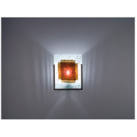 WPT Design FN1-BZ-MB F/N 1 1 Light 8 inch Bronze ADA Wall Sconce Wall Light in Mesh & Bits