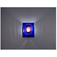 WPT Design FN1-BZ-RWB F/N 1 1 Light 8 inch Bronze ADA Wall Sconce Wall Light in Red Window Blue