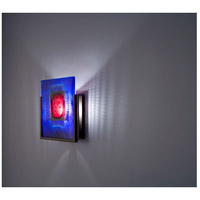 F/N 1 1 Light 8 inch Bronze ADA Wall Mount Wall Light in Red Window Blue