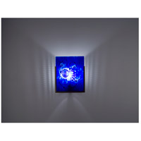 WPT Design FN1-BZ-WB F/N 1 1 Light 8 inch Bronze ADA Wall Sconce Wall Light in Wired Blue