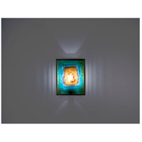 WPT Design FN2-BZ-GM-I F/N 2 1 Light 8 inch Bronze ADA Wall Sconce Wall Light in Incandescent Green Mesh