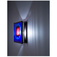 F/N 2 1 Light 8 inch Bronze ADA Wall Mount Wall Light in Incandescent, Red Window Blue