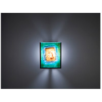 WPT Design FN2IO-BZ-GM F/N 2IO 1 Light 8 inch Bronze ADA Wall Sconce Wall Light in Green Mesh