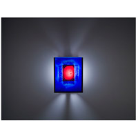 WPT Design FN2IO-BZ-RWB F/N 2IO 1 Light 8 inch Bronze ADA Wall Sconce Wall Light in Red Window Blue