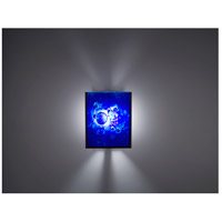 WPT Design FN2IO-BZ-WB F/N 2IO 1 Light 8 inch Bronze ADA Wall Sconce Wall Light in Wired Blue