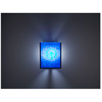 WPT Design FN2IO-BZ-WPB F/N 2IO 1 Light 8 inch Bronze ADA Wall Sconce Wall Light in Whirlpool Blue