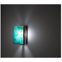 F/N 2IO 1 Light 8 inch Bronze ADA Wall Mount Wall Light in Wired Green