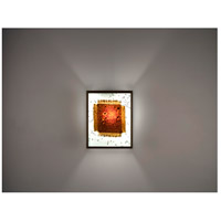 WPT Design FN3-BZ-MB-F F/N 3 2 Light 8 inch Bronze ADA Wall Sconce Wall Light in Fluorescent Mesh & Bits