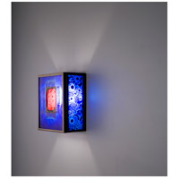 WPT Design FN3-BZ-RWB-F F/N 3 2 Light 8 inch Bronze ADA Wall Sconce Wall Light in Fluorescent Red Window Blue
