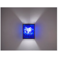 WPT Design FN3-BZ-WB-F F/N 3 2 Light 8 inch Bronze ADA Wall Sconce Wall Light in Fluorescent Wired Blue