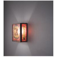 WPT Design FN3IO-BZ-GAR F/N 3IO 1 Light 8 inch Bronze ADA Wall Sconce Wall Light in Garcia