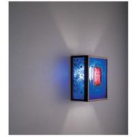 WPT Design FN3IO-BZ-RWB F/N 3IO 1 Light 8 inch Bronze ADA Wall Sconce Wall Light in Red Window Blue