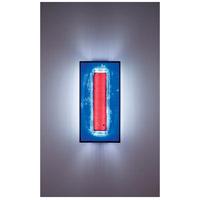 WPT Design FNTALL-BZ-RWB F/N Tall 2 Light 12 inch Bronze ADA Wall Sconce Wall Light in Red Window Blue