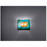 WPT Design FNWIDE-BZ-GM F/N Wide 2 Light 11 inch Bronze ADA Wall Sconce Wall Light in Green Mesh