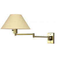 Imago 26 inch 100 watt Polished Brass Swing-Arm Sconce Wall Light
