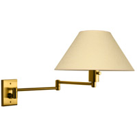 Imago 26 inch 100 watt Brushed Brass Swing-Arm Sconce Wall Light