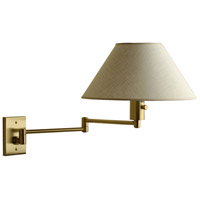 Imago-Pared 26 inch 100 watt Brushed Brass Swing Arm Wall Sconce Wall Light