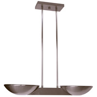 Pascal 2 Light 10 inch Brushed Nickel Pendant Ceiling Light