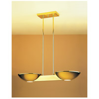Pascal 2 Light 10 inch Polished Brass Pendant Ceiling Light