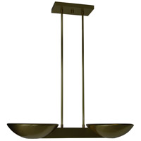 WPT Design PASCAL-CEILING-BZ Pascal 2 Light 10 inch Bronze Pendant Ceiling Light