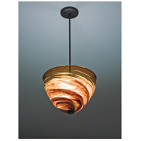Rose Agua Viva 3 Light 17 inch Bronze Pendant Ceiling Light in 41, Agua Dark Amber