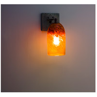 Rose Craftsman 1 Light 6 inch Wrought Iron Wall Sconce Wall Light in Clear Amber