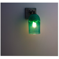 Rose Craftsman 1 Light 6 inch Wrought Iron Wall Sconce Wall Light in Clear Green