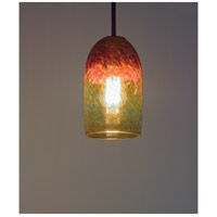 WPT Design ROSE-CYL-CLAM-BZ-17 Rose Cylinder 1 Light 6 inch Bronze Pendant Ceiling Light in 17 Clear Amber