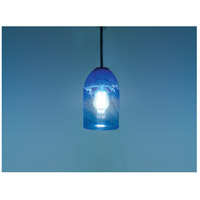 WPT Design ROSE-CYL-CLBL-BZ-35 Rose Cylinder 1 Light 6 inch Bronze Pendant Ceiling Light in 35 Clear Blue