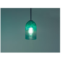 WPT Design ROSE-CYL-CLGR-BZ-47 Rose Cylinder 1 Light 6 inch Bronze Pendant Ceiling Light in 47 Clear Green