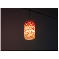 WPT Design ROSE-CYL-RH-SV-47 Rose Cylinder 1 Light 6 inch Silver Pendant Ceiling Light in 47 Red Hot
