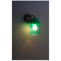 Rose Modern 1 Light 6 inch Bronze Wall Sconce Wall Light in Clear Green