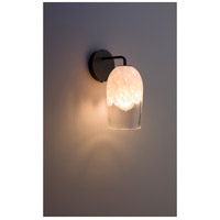 WPT Design ROSE-MOD-SC-CLWH-BZ Rose Modern 1 Light 6 inch Bronze Wall Sconce Wall Light in Clear White