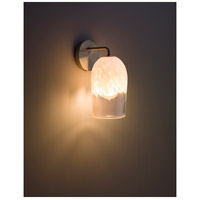 WPT Design ROSE-MOD-SC-CLWH-SS Rose Modern 1 Light 6 inch Stainless Steel Wall Sconce Wall Light in Clear White