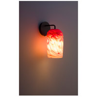 WPT Design ROSE-MOD-SC-RH-BZ Rose Modern 1 Light 6 inch Bronze Wall Sconce Wall Light in Red Hot