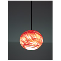 WPT Design ROSE-GL-RH-BZ-33 Rose Globe 1 Light 8 inch Bronze Pendant Ceiling Light in 33 Red Hot