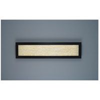 V-II Rectangle 2 Light 12 inch Bronze ADA Wall Mount Wall Light in Structured Bamboo