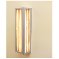 V-II Rectangle 2 Light 12 inch Silver ADA Wall Mount Wall Light in Structured Bamboo