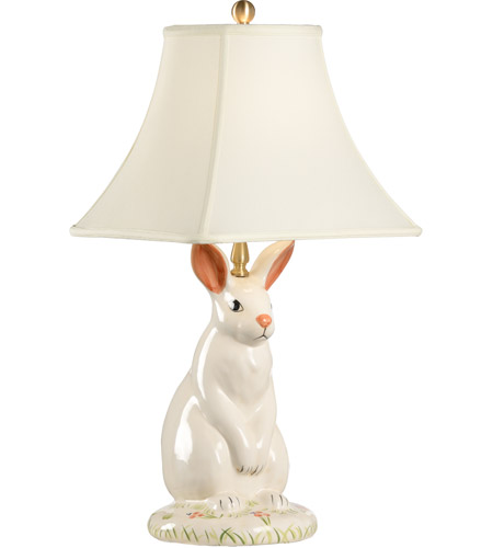 Wildwood Lamps Dignified Rabbit Table Lamp in Hand Painted Porcelain 10165 photo