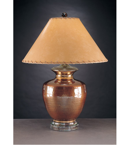 Wildwood Lamps Ripples Jar Table Lamp in Hammered Solid Brass 10252 photo
