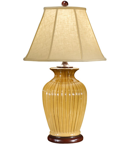 Wildwood Lamps Ribbed Jar Table Lamp in Hand Glazed Porcelain 1051 photo