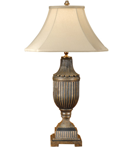 Wildwood Lamps Fluted Urn Table Lamp in Hand Colored Faux Bronze 1151 photo