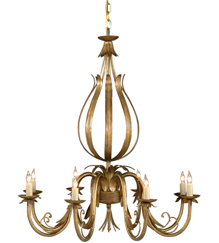 Wildwood Lamps Signature Chandelier in French Gold On Iron 1180 photo