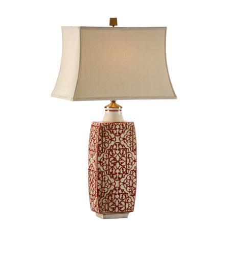 Wildwood Lamps 12508 Discovery 33 Inch 100 Watt Hand Painted Pattern Table  Lamp Portable Light