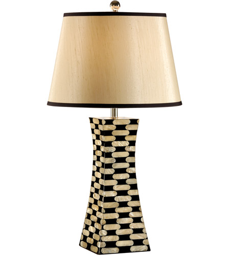 Wildwood Lamps Coastal 1 Light Pearls Pylon Lamp Mother Of Pearl Inlaid Table Lamp in Mother Of Pearl 13128 photo