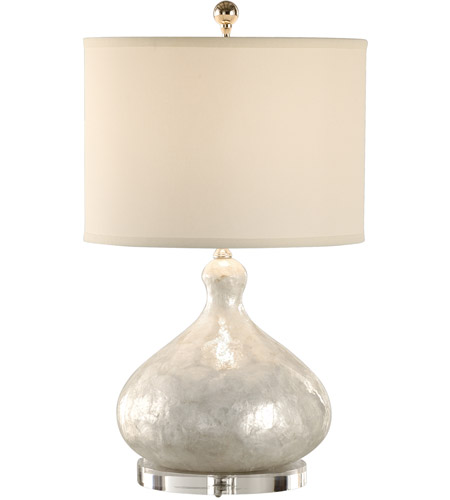Wildwood Lamps 13131 Coastal 24 inch 100 watt Hand Applied Shell Table Lamp Portable Light photo