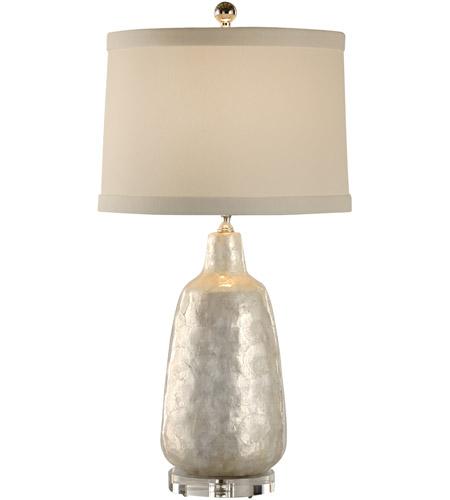 Wildwood lamps coastal 1 light shell covered urn lamp table lamp in wildwood lamps 13132 coastal 27 inch 100 watt hand applied capiz shell table lamp portable light aloadofball Images