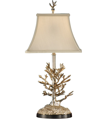Wildwood Lamps Mt. Vernon Silver Coral Table Lamp in Antique Silver Plate 14135 photo