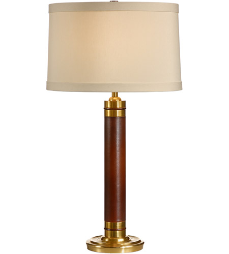 Wildwood Lamps Leather Column Table Lamp in Genuine Leather 15600 photo