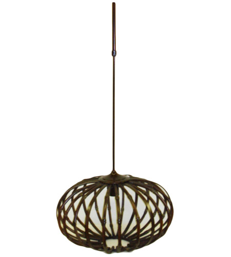 Wildwood Lamps Bamboo Chandelier in Aged Bamboo 15657 photo